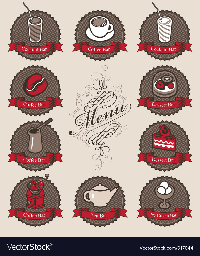Drinks and dessert vector | Price: 3 Credit (USD $3)