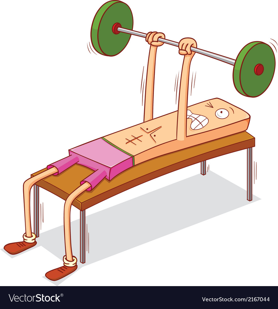 Dumbbell chest press vector | Price: 1 Credit (USD $1)