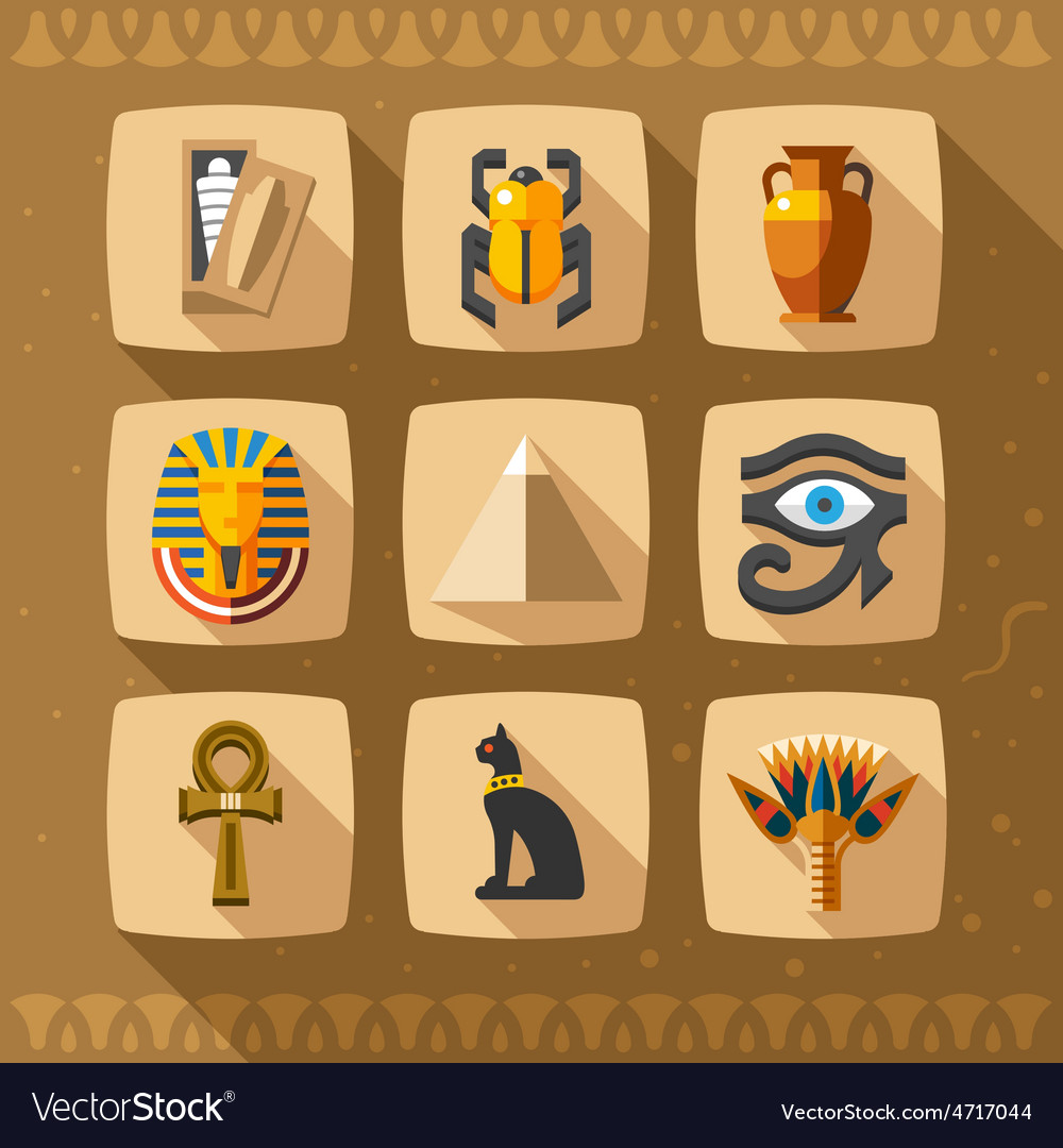 Egypt icons and design elements vector | Price: 3 Credit (USD $3)