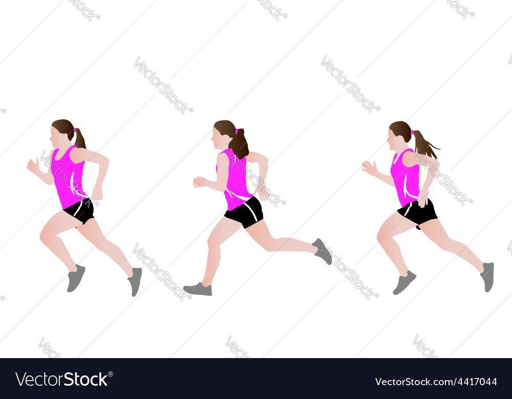 Female runner vector | Price: 1 Credit (USD $1)