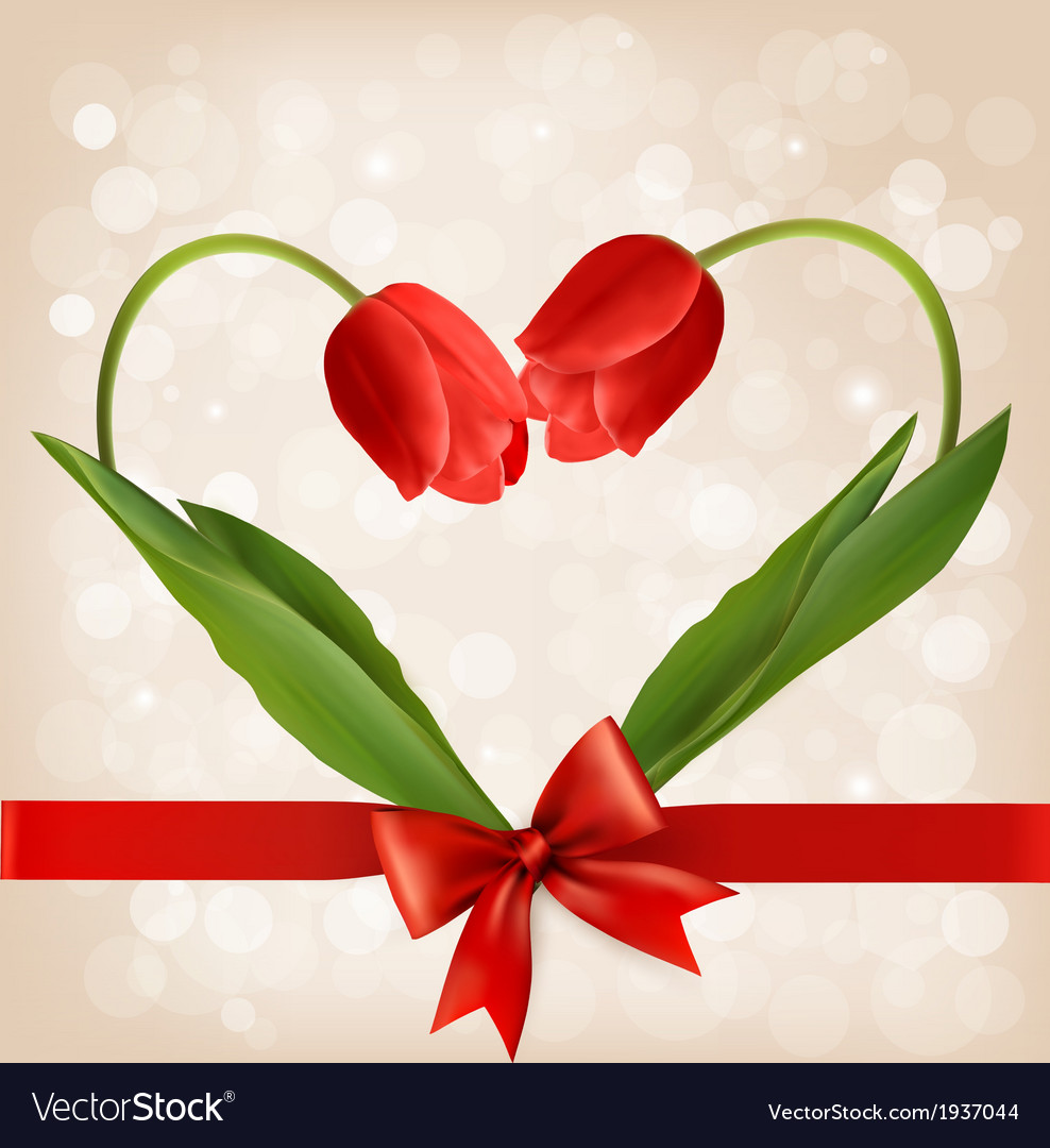 Holiday background with two flowers vector | Price: 1 Credit (USD $1)