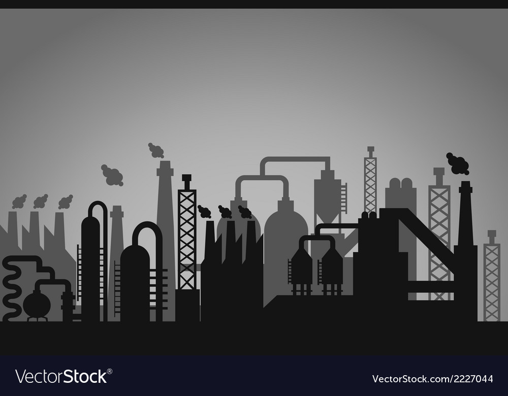 Industrial factory background vector | Price: 1 Credit (USD $1)