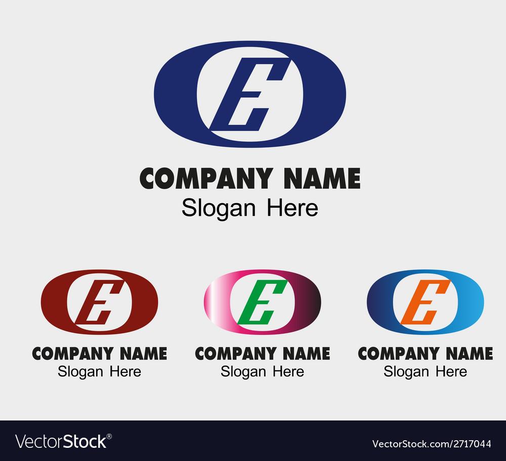 Letter e logo vector | Price: 1 Credit (USD $1)