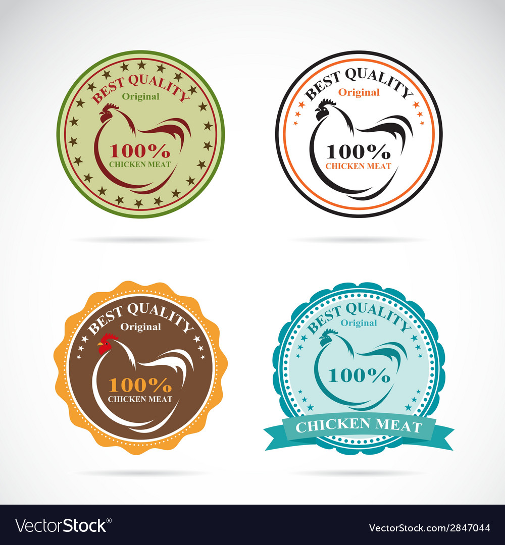 Set of an chicken label vector | Price: 1 Credit (USD $1)