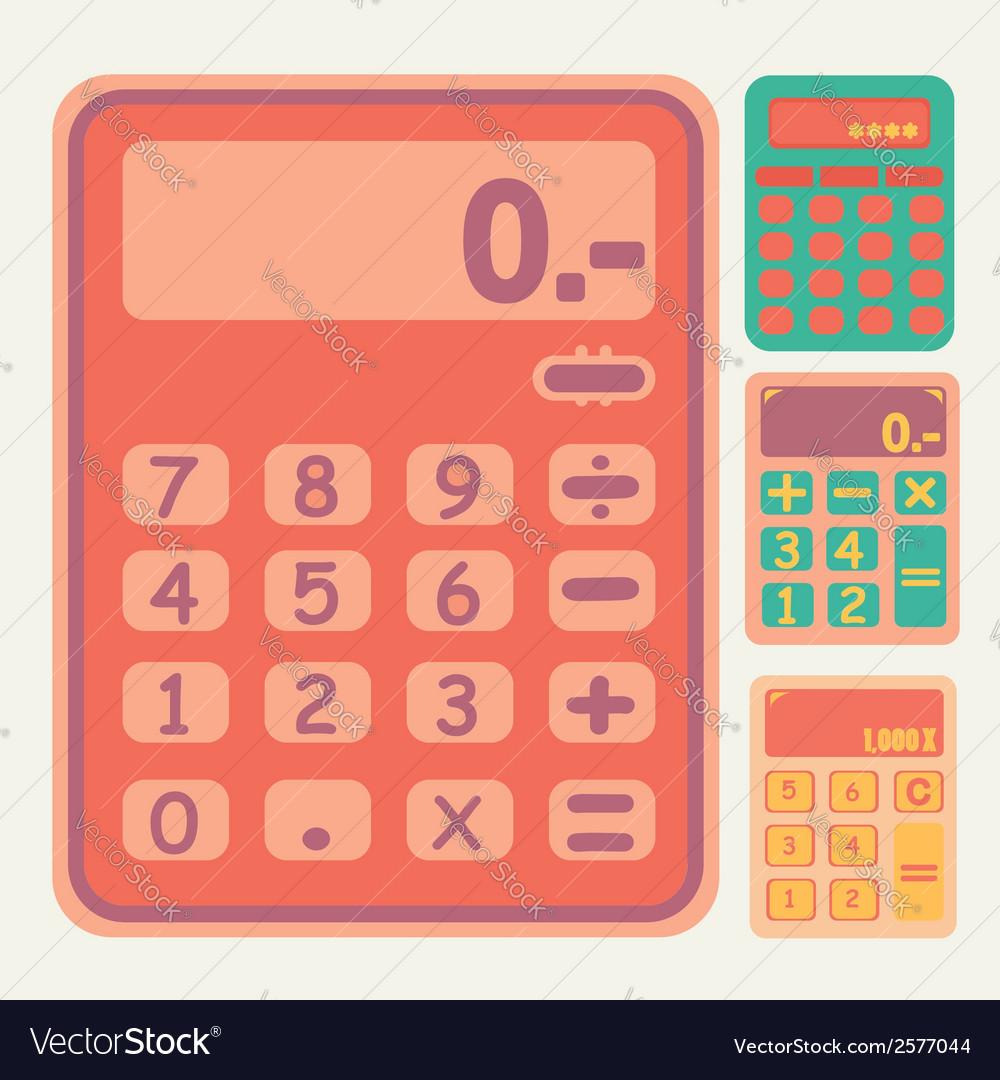 Tools calculator icons set vector | Price: 1 Credit (USD $1)