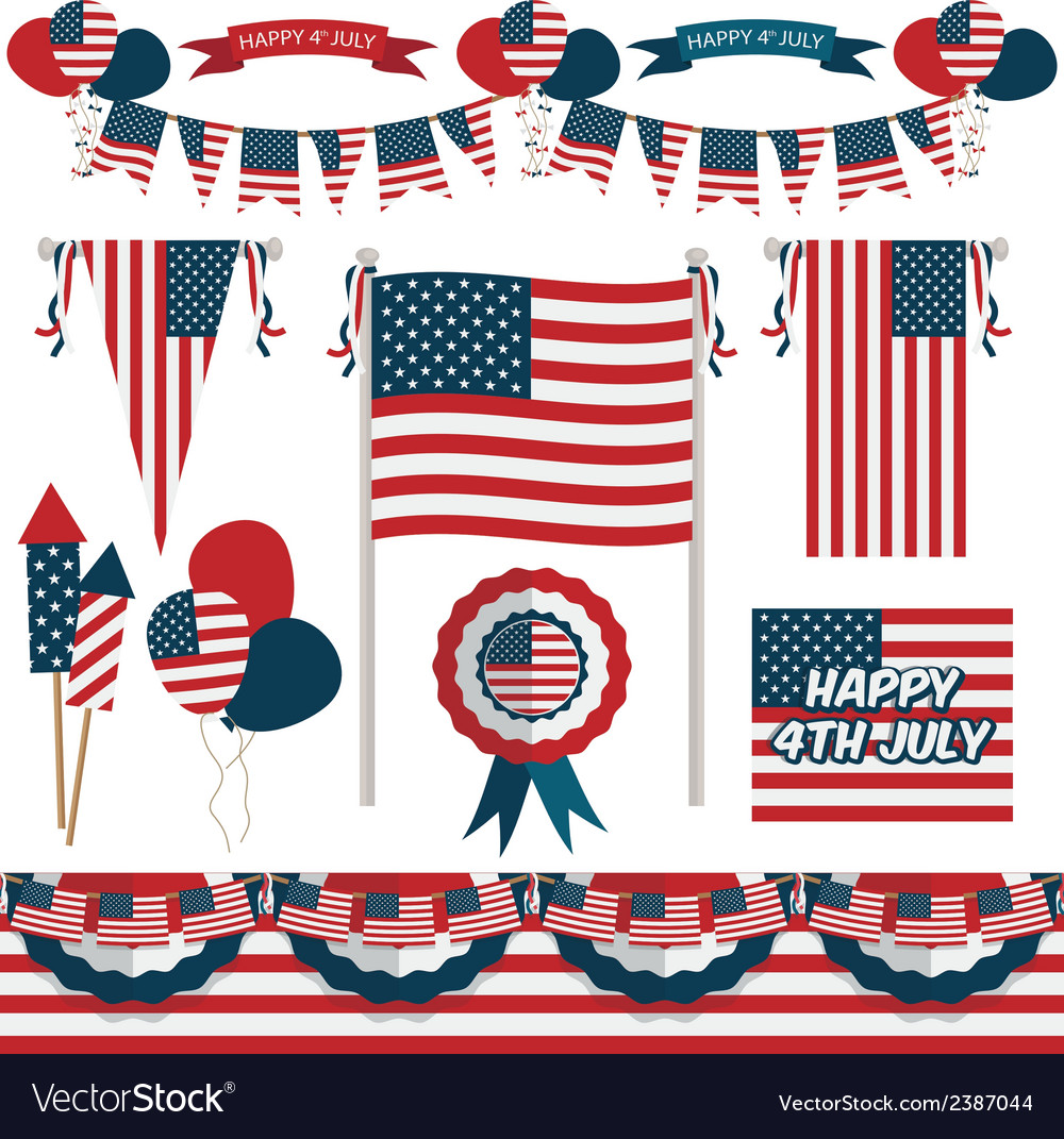 Usa decorations vector | Price: 1 Credit (USD $1)