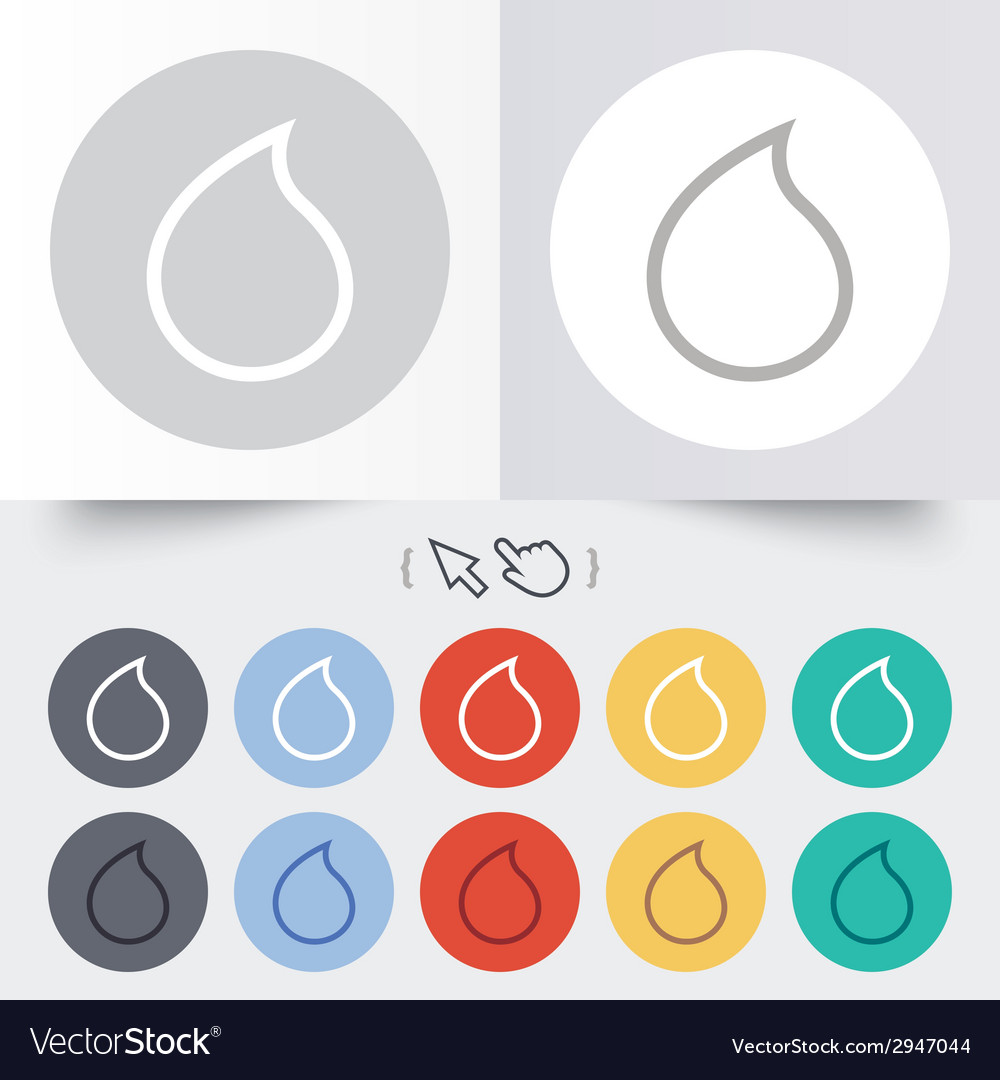 Water drop sign icon tear symbol vector | Price: 1 Credit (USD $1)