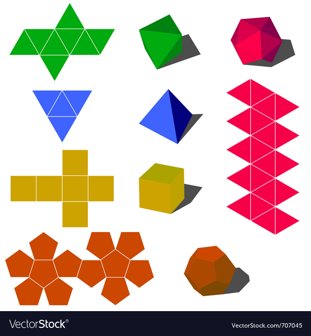 3d geometric shapes vector | Price: 1 Credit (USD $1)