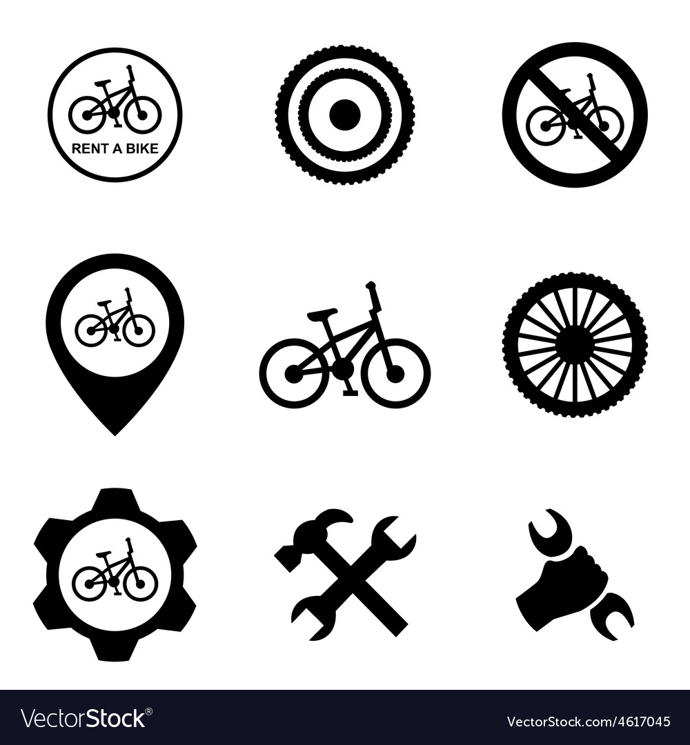 Bicycle service 9 icons set vector | Price: 1 Credit (USD $1)