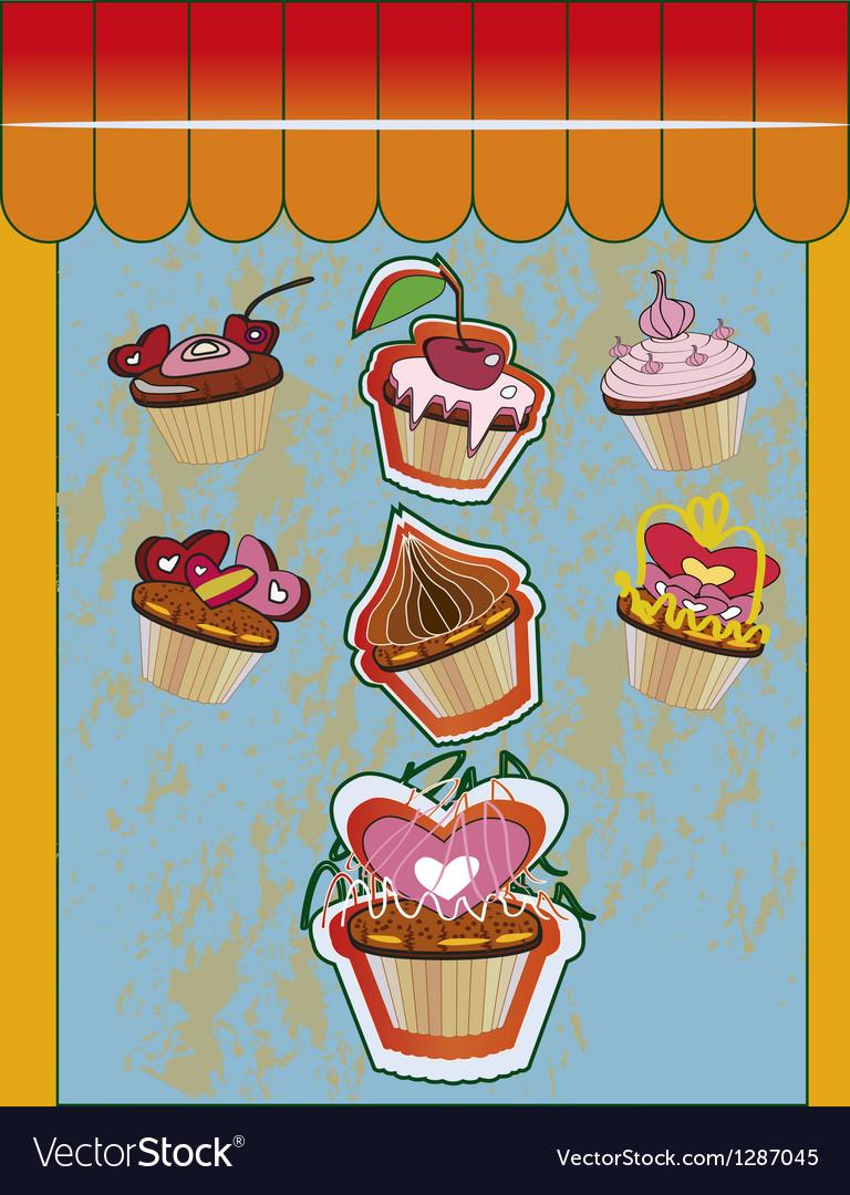 Cupcake design vector | Price: 3 Credit (USD $3)