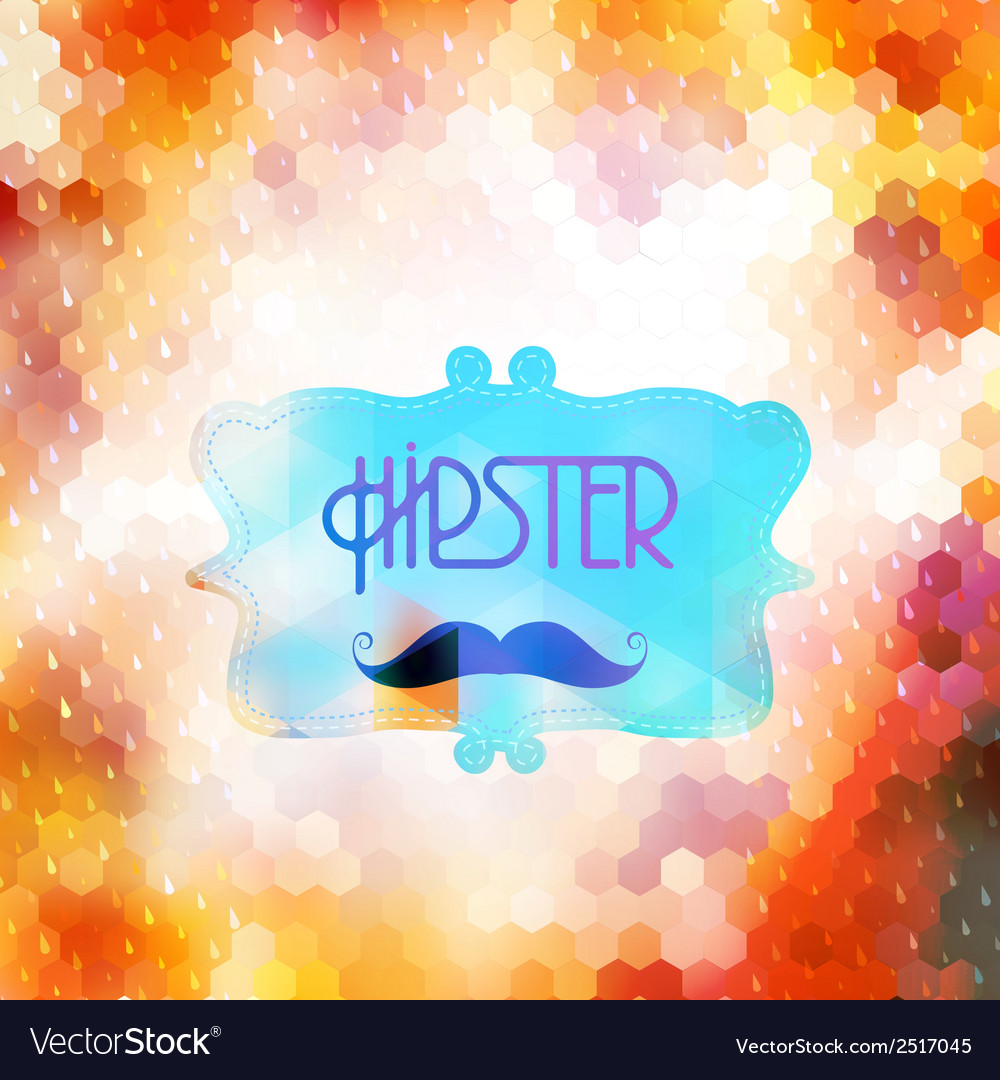 Hipster background on geometric shapes eps 10 vector | Price: 1 Credit (USD $1)