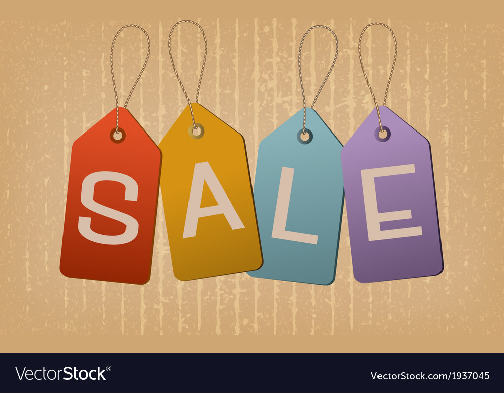Sale retro tags concept of discount shopping vector | Price: 1 Credit (USD $1)