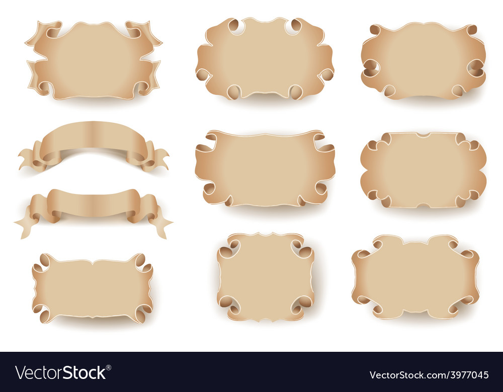 Scrolls frames vector | Price: 1 Credit (USD $1)