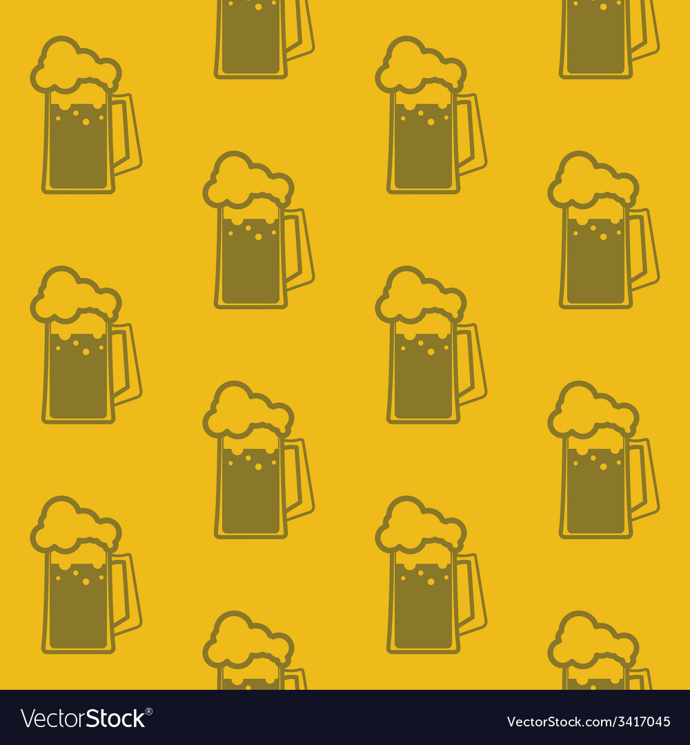 Seamless background with beer mugs vector | Price: 1 Credit (USD $1)