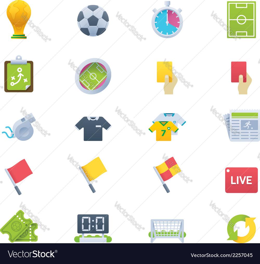 Soccer icon set vector | Price: 1 Credit (USD $1)