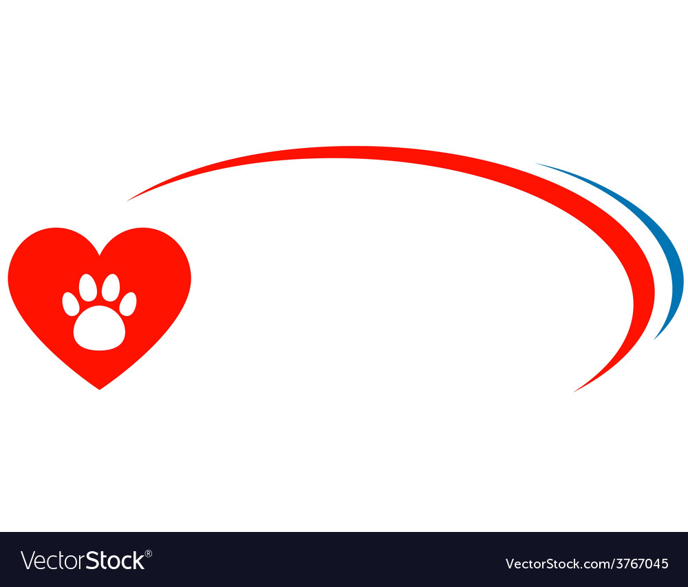 Veterinarian background with heart vector | Price: 1 Credit (USD $1)