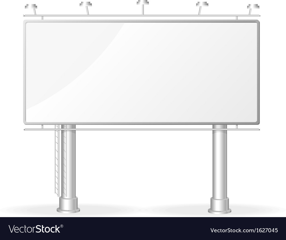White billboard screen template vector | Price: 1 Credit (USD $1)