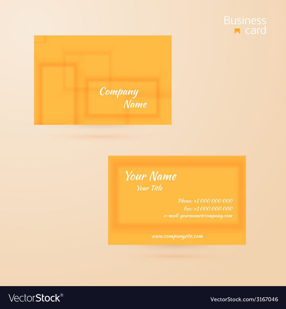 Business template or visiting card vector | Price: 1 Credit (USD $1)