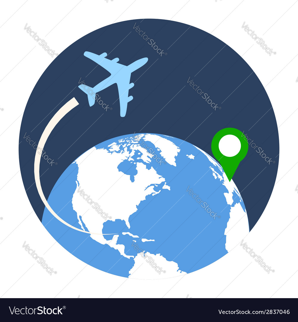 Business travel icon flat style isolated in vector | Price: 1 Credit (USD $1)