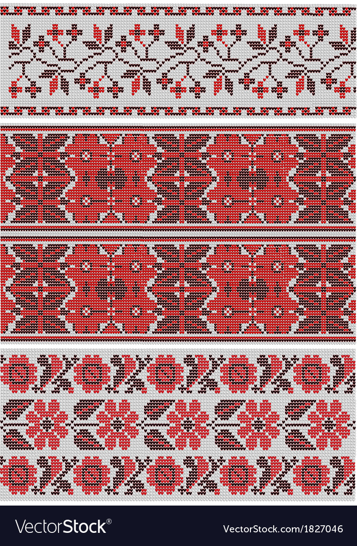 Collection of vegetative ornaments in the ukrainia vector | Price: 1 Credit (USD $1)