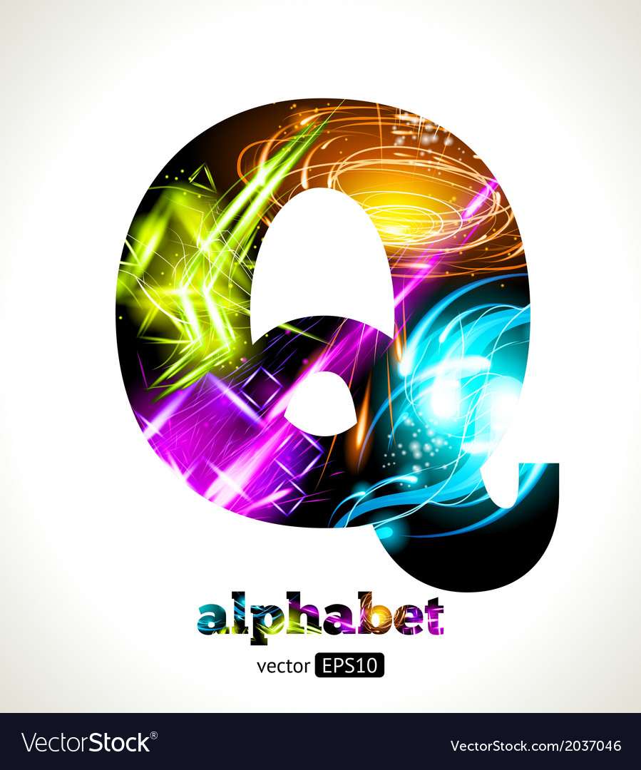 Design abstract letter q vector | Price: 1 Credit (USD $1)