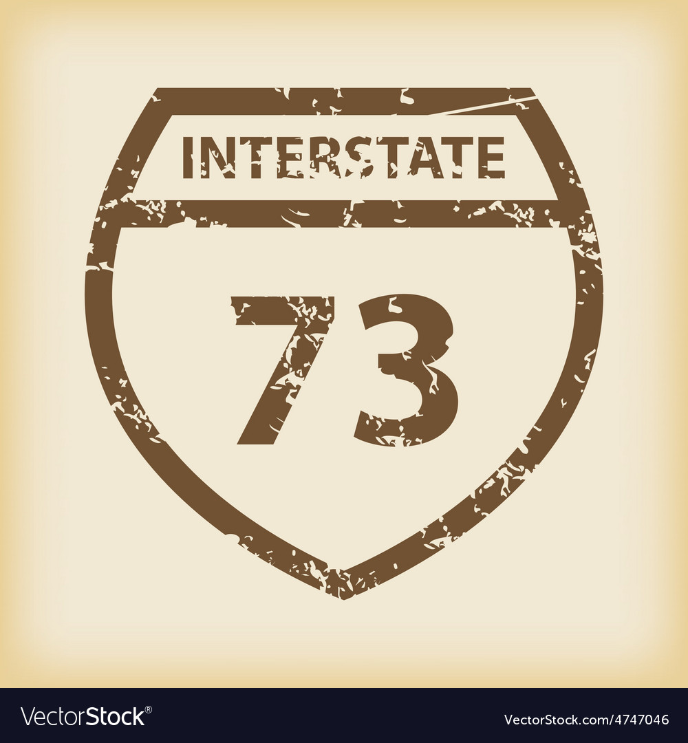 Grungy interstate 73 icon vector | Price: 1 Credit (USD $1)