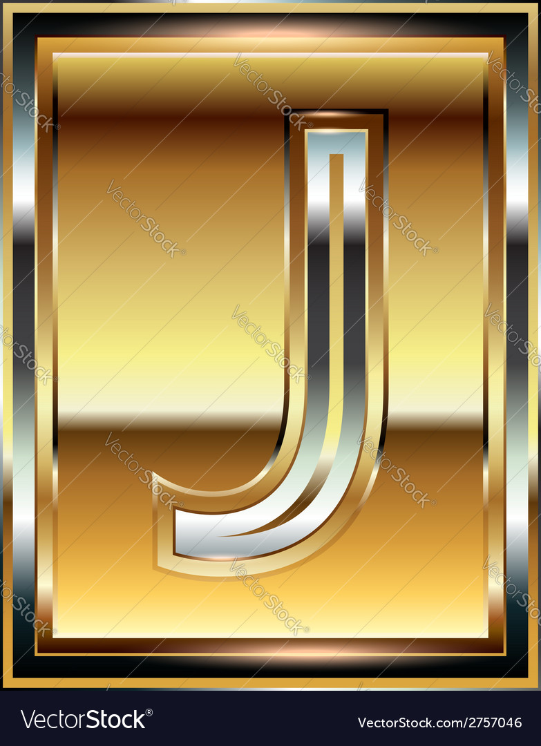 Ingot font letter j vector | Price: 1 Credit (USD $1)