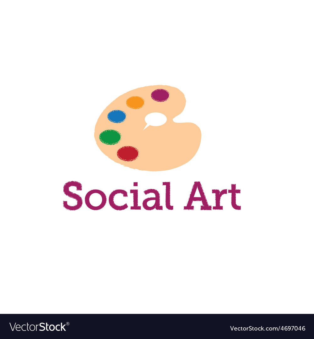 Social art concept vector | Price: 1 Credit (USD $1)