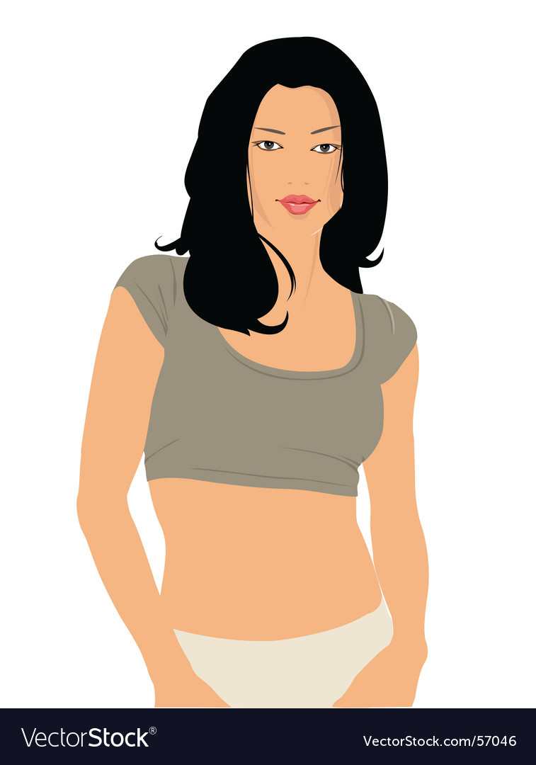 Sporty girl vector | Price: 3 Credit (USD $3)