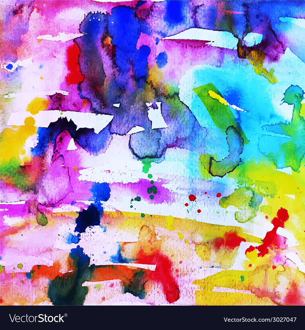 Abstract hand drawn watercolor background vector | Price: 1 Credit (USD $1)