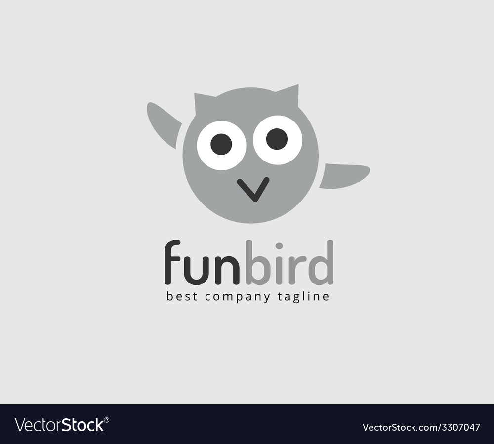 Abstract owl cute character logo icon concept vector | Price: 1 Credit (USD $1)