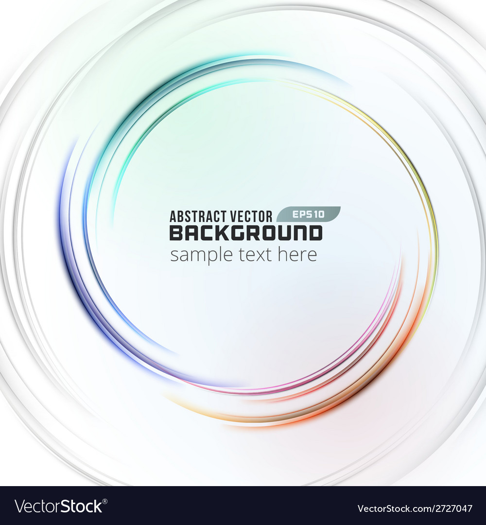 Abstract soft light circle lines background vector | Price: 1 Credit (USD $1)
