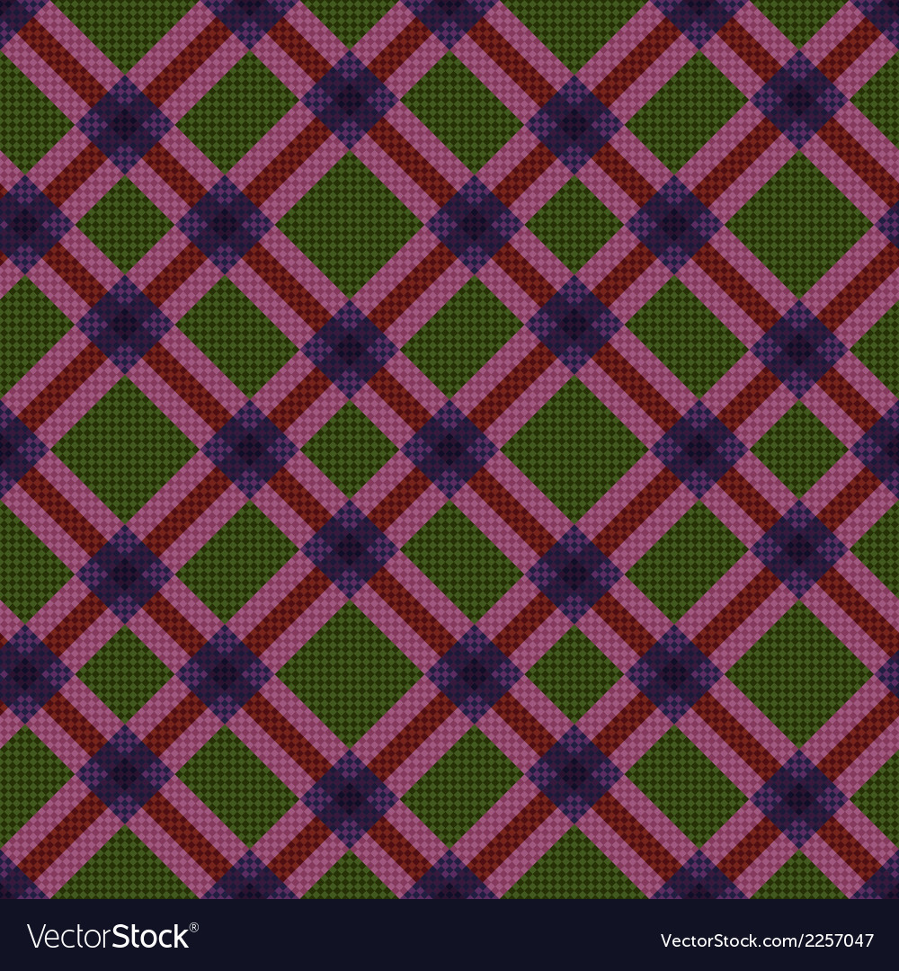 Checkered diagonal seamless tartan texture vector | Price: 1 Credit (USD $1)