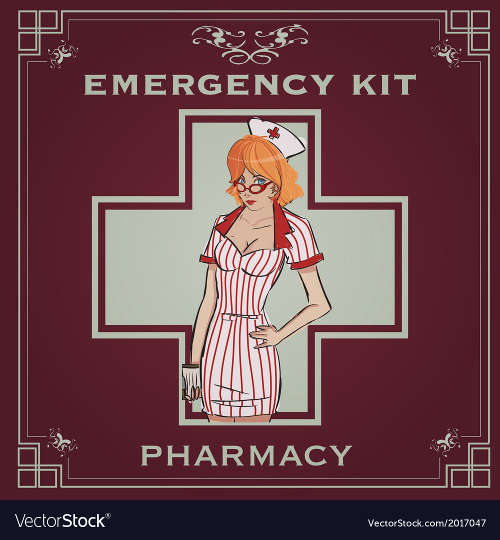 Emergency kit poster vector | Price: 1 Credit (USD $1)
