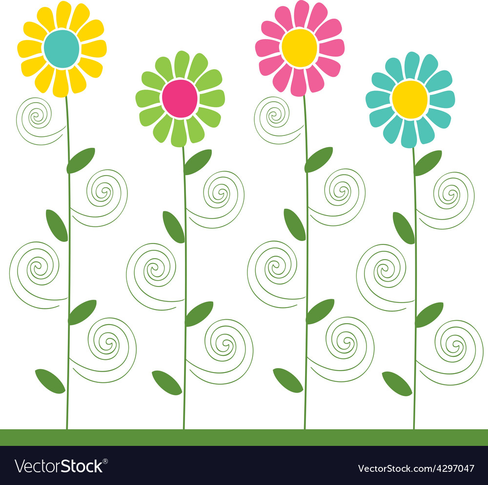 Flowers pattern 3 vector | Price: 1 Credit (USD $1)