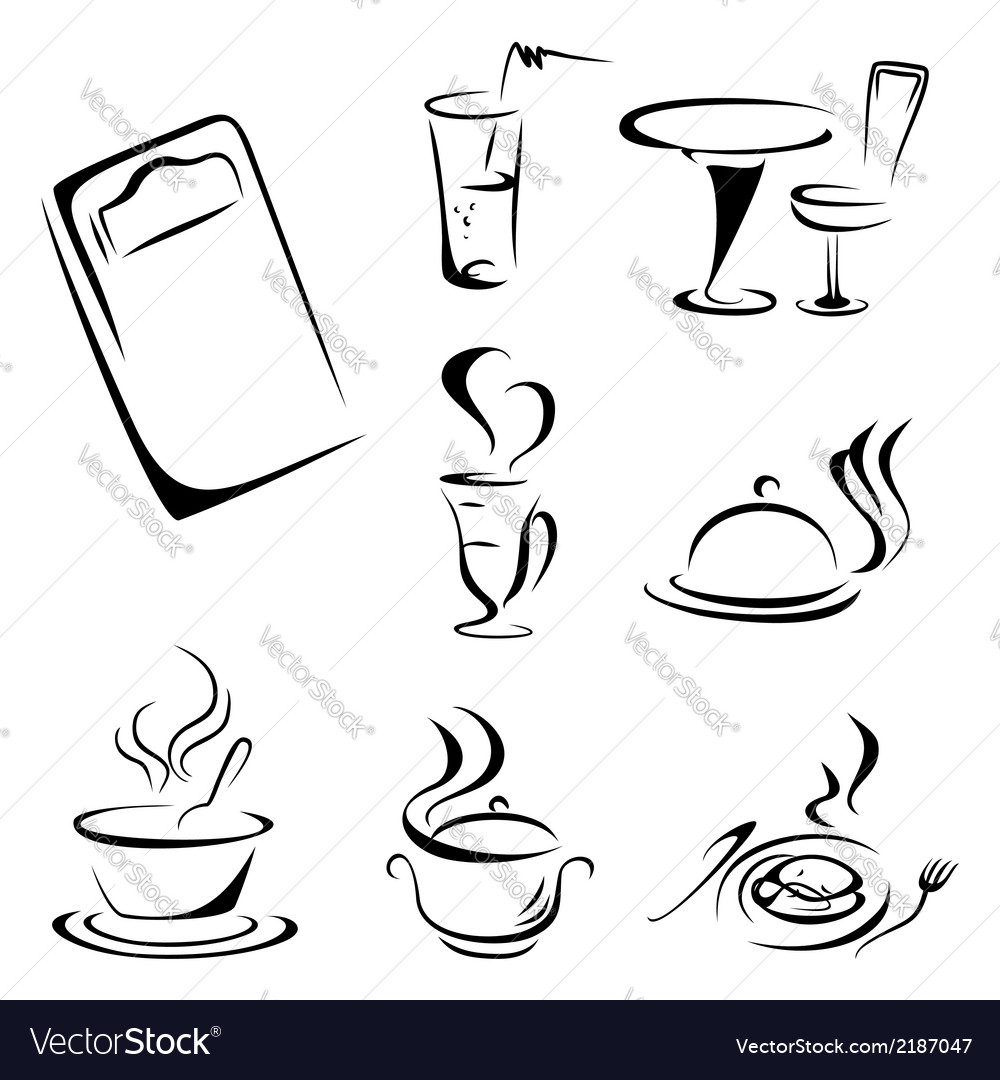 Food symbols vector | Price: 1 Credit (USD $1)