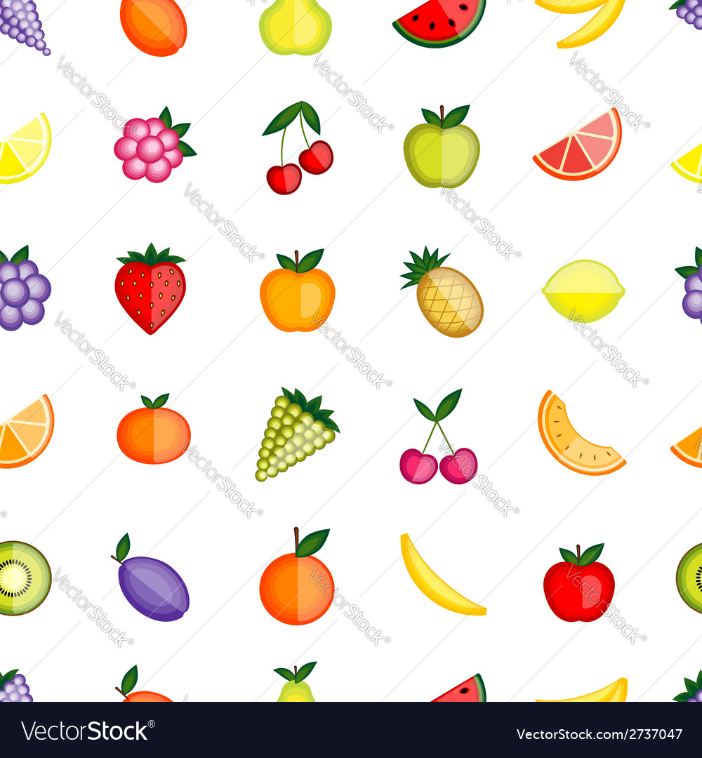 Fruits seamless pattern for your design vector | Price: 1 Credit (USD $1)
