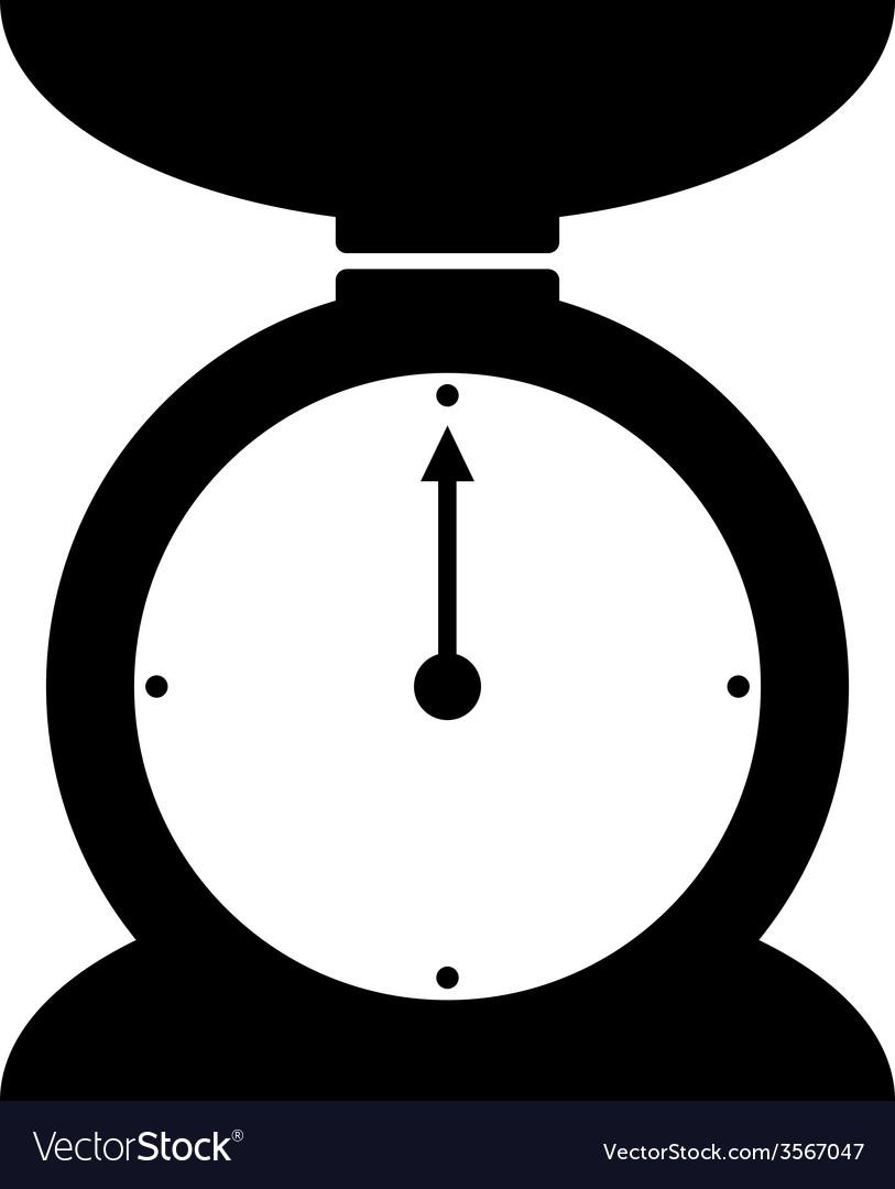 Kitchen scales icon vector | Price: 1 Credit (USD $1)