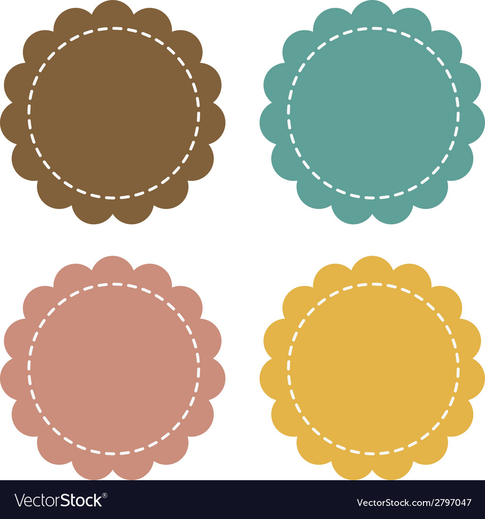 Label fabric promotions or qualities vector | Price: 1 Credit (USD $1)