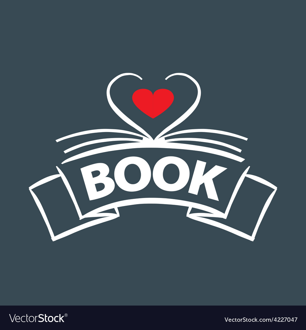 Logo book in the form of heart vector | Price: 1 Credit (USD $1)