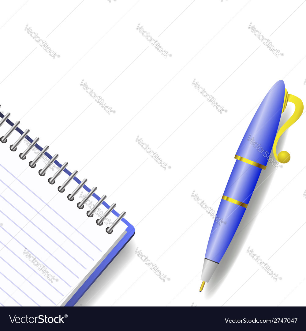 Pen and notebook vector | Price: 1 Credit (USD $1)