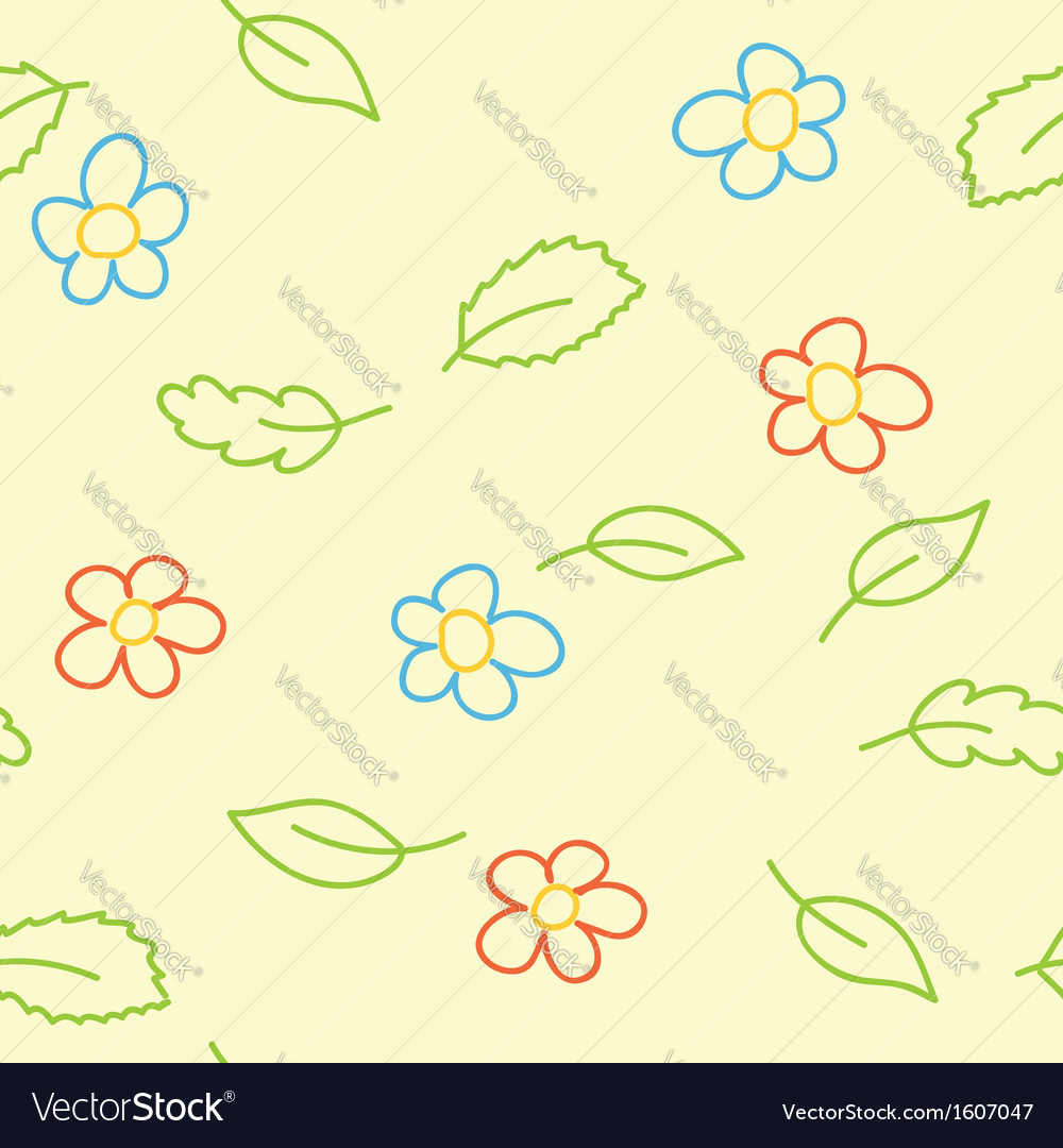Seamless pattern of childish picture vector | Price: 1 Credit (USD $1)