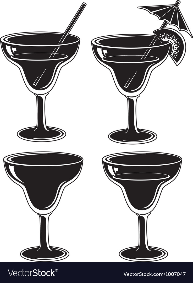Set glasses black pictograms vector | Price: 1 Credit (USD $1)
