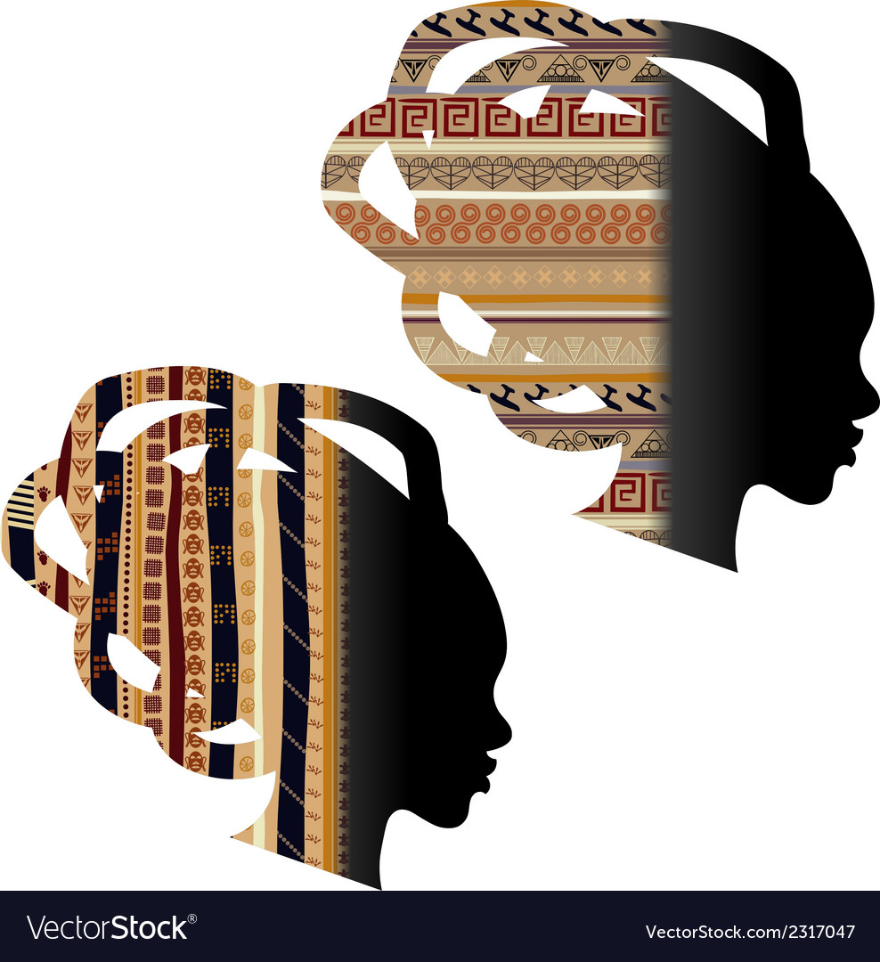 Silhouette of the head of an african woman vector | Price: 1 Credit (USD $1)