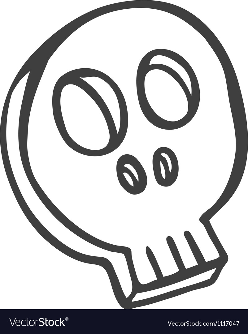 Skull doodle vector | Price: 1 Credit (USD $1)