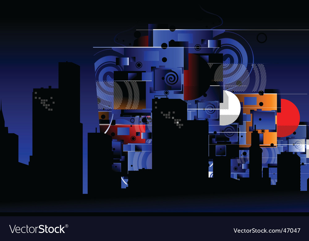 Urban city background vector | Price: 1 Credit (USD $1)
