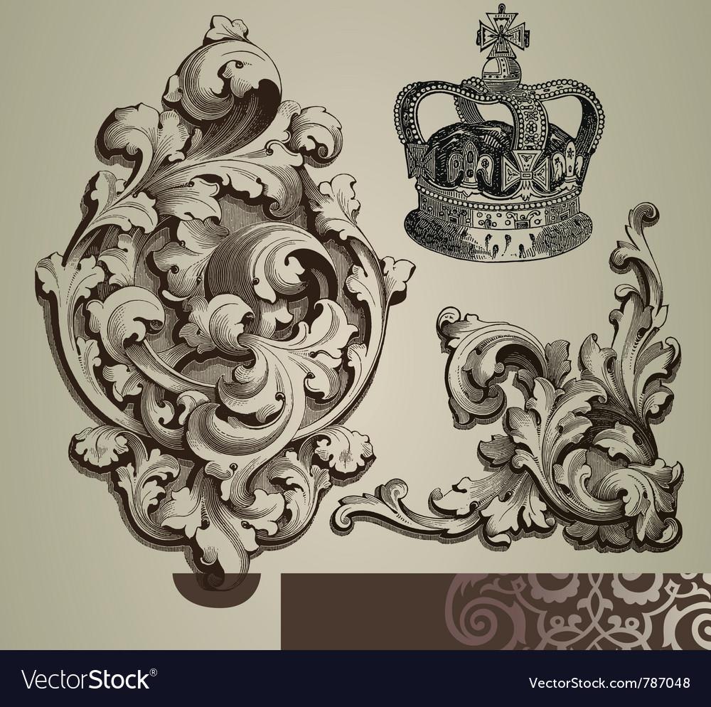 Baroque ornaments vector | Price: 1 Credit (USD $1)