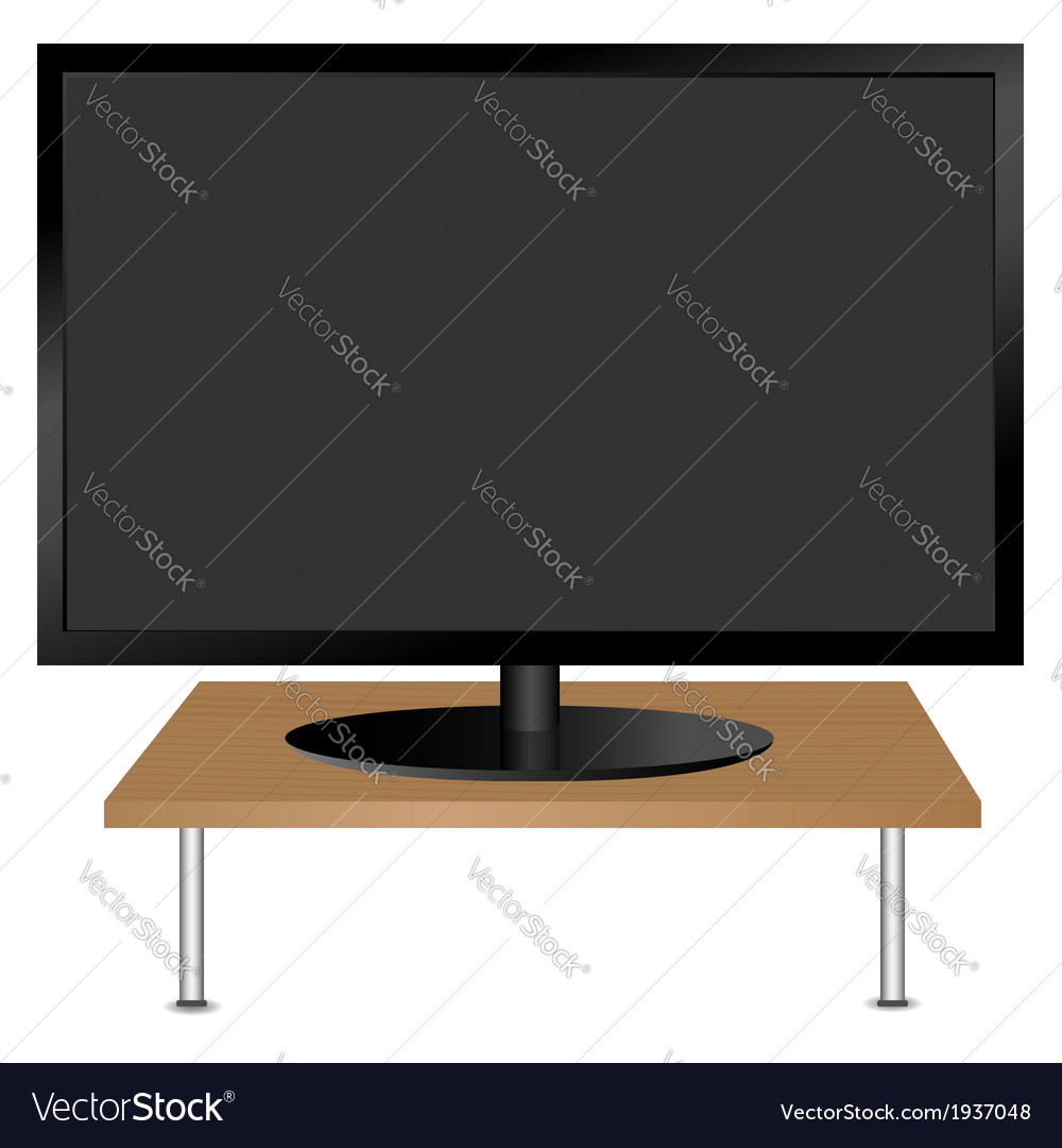 Black monitor on the table vector | Price: 1 Credit (USD $1)