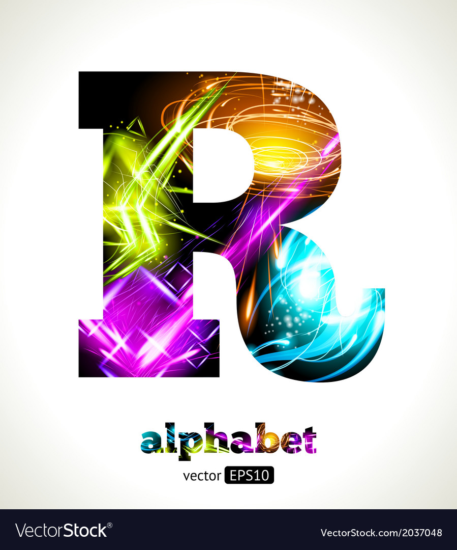 Design abstract letter r vector | Price: 1 Credit (USD $1)