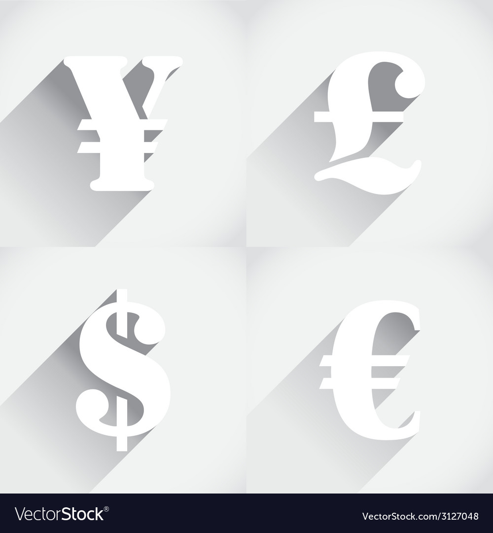 Euro dollar pound and yen vector | Price: 1 Credit (USD $1)